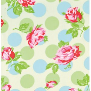 Tanya Whelan Sugarhill Flannel Fabric - Falling Roses - Ivory