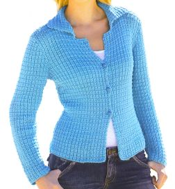 Tahki Cotton Classic Fancy Rib Cardigan Kit - Women's Cardigans