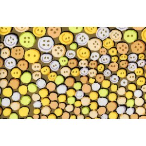 Kaffe Fassett Buttons Fabric - Gold