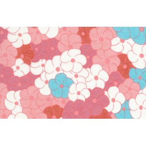 Melissa White Fairlyte Garden Fabric - Blossom Swirl - Faded