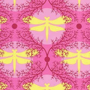 Jane Sassaman Garden Divas Fabric - Dragonfly Moon - Exotic