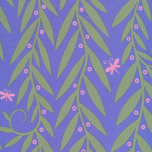 Jane Sassaman Garden Divas Fabric - Willow Wands - Pastel