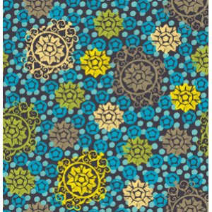 FreeSpirit Design Loft Chiffon Fabric - Medallion - Lime
