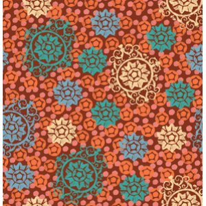 FreeSpirit Design Loft Chiffon Fabric - Medallion - Orange