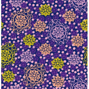 FreeSpirit Design Loft Chiffon Fabric - Medallion - Purple