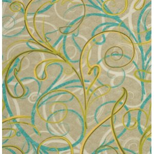 FreeSpirit Design Loft Chiffon Fabric - Script - Lime