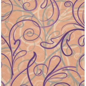 FreeSpirit Design Loft Chiffon Fabric - Script - Peach