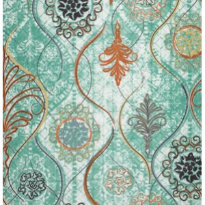 FreeSpirit Design Loft Chiffon Fabric - Sterling - Teal