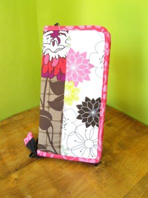 Chicken Boots Mini Knitter Case - Dahlias