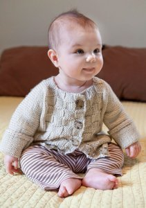 Berroco Comfort Burnett Baby Sweater Kit - Baby and Kids Cardigans