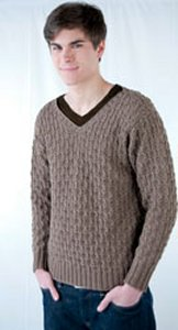 Cascade Greenland Textured V-Neck Sweater Kit - Mens Sweaters