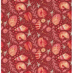 Tula Pink Salt Water Fabric - Bubble Shells - Coral