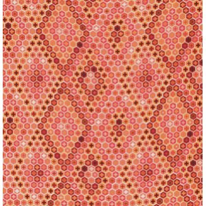 Tula Pink Salt Water Fabric - Tortoise Shell - Coral