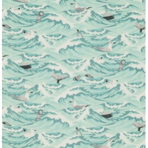 Tula Pink Salt Water Fabric - Sea Debris - Aqua