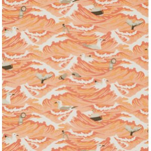 Tula Pink Salt Water Fabric - Sea Debris - Coral