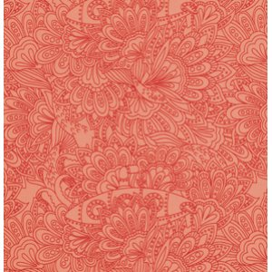 Tula Pink Salt Water Fabric - Submarines & Seaweed - Coral
