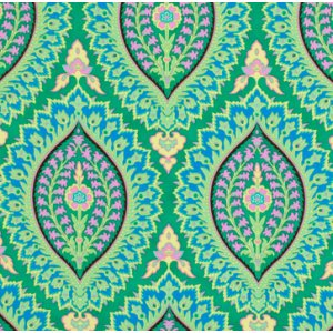 Amy Butler Alchemy Quilt Cotton Fabric - Imperial Paisley - Emerald