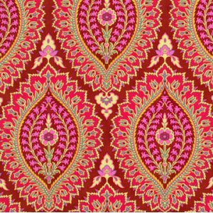 Amy Butler Alchemy Quilt Cotton Fabric - Imperial Paisley - Zinnia
