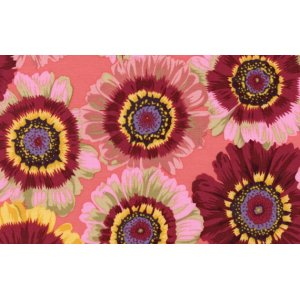 Philip Jacobs Painted Daisies Fabric - Rose