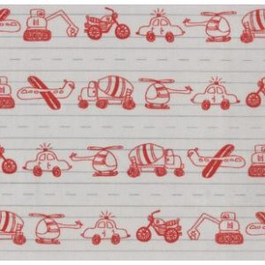 Tim and Beck Apple Jack Fabric - Doodles - Grey (39512 19)