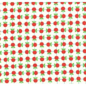 Tim and Beck Apple Jack Fabric - Apples - Ivory (39513 11)