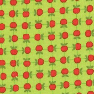 Tim and Beck Apple Jack Fabric - Apples - Lime (39513 16)