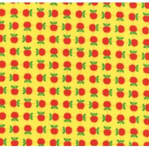 Tim and Beck Apple Jack Fabric - Apples - Yellow (39513 17)