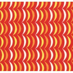 Tim and Beck Apple Jack Fabric - Scallop Stripe - Red (39516 18)
