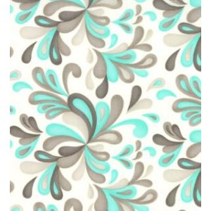 Sandy Gervais Flirt Fabric - Plums - White Diamond/Blue Bird (17704 14)