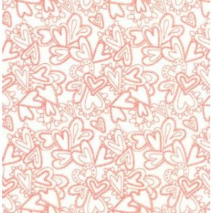 Sandy Gervais Flirt Fabric - Lacy Heart - Diamond White (17705 13)
