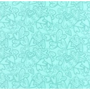 Sandy Gervais Flirt Fabric - Lacy Heart - Blue Bird (17705 14)