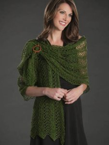 Nazli Gelin Garden 10 Metallic Peacock Feather Shawl Kit - Scarf and Shawls