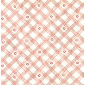 Sandy Gervais Flirt Fabric - Wavy Plaid - White Diamond (17707 13)