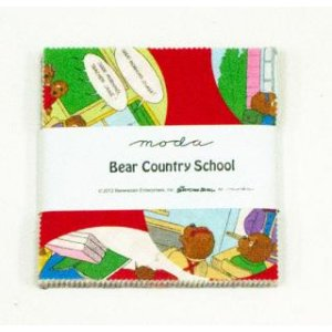 Berenstain Bears Bear Country School Precuts Fabric - Charm Pack