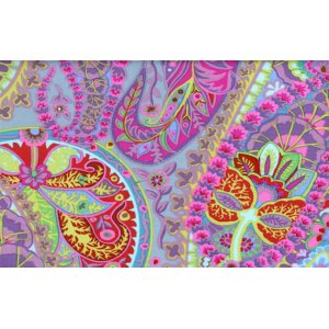 Kaffe Fassett Paisley Jungle Fabric - Grey