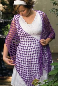 Nazli Gelin Garden 10 Iris Shawl Kit - Crochet for Adults