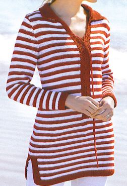Tahki Cotton Classic Striped Tunic Kit - Women's Pullovers