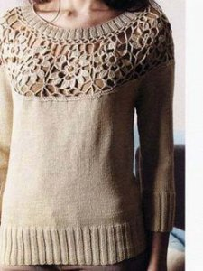 Debbie Bliss Baby Cashmerino Catherine Pullover Kit - Women's Pullovers