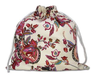 della Q Large Eden Cotton Project Bag (119-2) - 141 Cranberry Tea