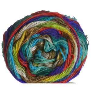 Noro Taiyo Lace Yarn - 08 White, Lime, Yellow, Red, Blue
