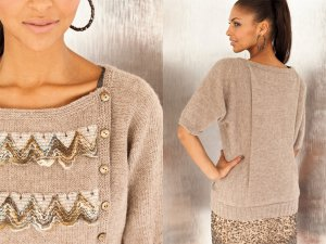 Berroco Dolman Sweater (Tan) Kit - Women's Cardigans