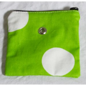 Top Shelf Totes Yarn Pop - Mini - Bright Green Polka-dots
