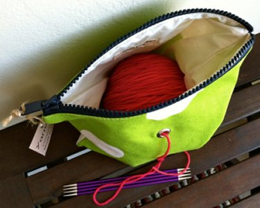 Top Shelf Totes Yarn Pop - Single - Bright Green Polka-dots