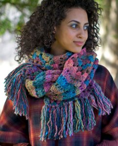 Berroco Lodge Sashay Scarf Kit - Crochet for Adults