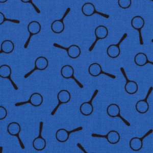 Nancy Drew Get a Clue With Nancy Drew Fabric - Magnifying Glass - Mysterious Midnight Blue (1346 17)