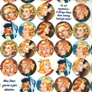 Nancy Drew Get a Clue With Nancy Drew Fabric - Nancy Drew Dot - Ghostly White (1341 11)