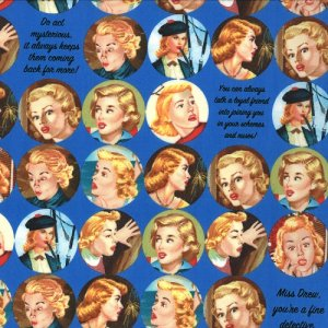 Nancy Drew Get a Clue With Nancy Drew Fabric - Nancy Drew Dot - Mysterious Midnight Blue (1341 16)