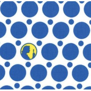 Nancy Drew Get a Clue With Nancy Drew Fabric - Silhouette Dots - Ghostly White (1345 11)