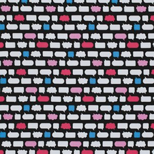 Erin McMorris Moxie Fabric - Chatroom - Black