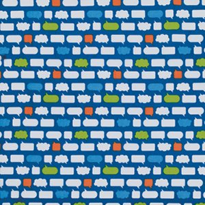 Erin McMorris Moxie Fabric - Chatroom - Royal